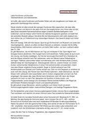 Newsletter März 2012 Liebe Kundinnen und Kunden ...