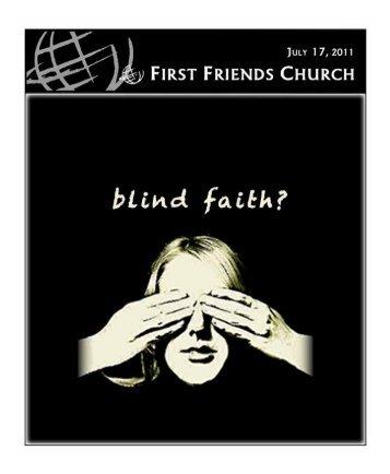 July 17, 2011 - First Friends Church