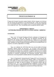 PROYECTO DE OPINION N° 28 El pleno del Consejo Consultivo ...