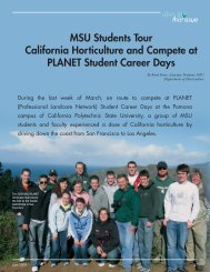 MSU Students Tour California Horticulture and Compete at PLANET ...