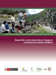 Desarrollo rural reduciendo el riesgo en contextos de cambio climático