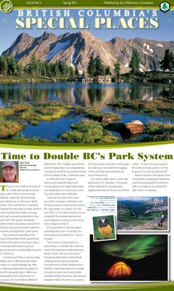 British Columbia's Special Places - Wilderness Committee