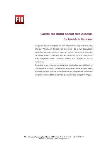 Guide du statut social des auteurs - Arald