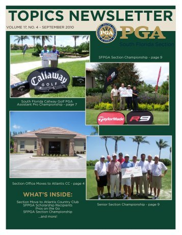 TOPICS NEWSLETTER - South Florida PGA Golf