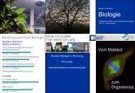 Beratung zum Fach Biologie - Biostudium.uni-wuerzburg.de