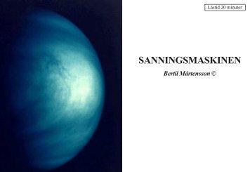 SANNINGSMASKINEN - Läs en bok