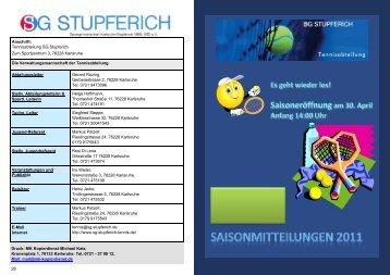 Termine 2011 - SG-Stupferich Tennis