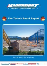 The Team's Board Report - Mainfreight