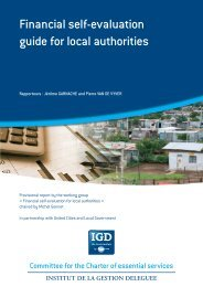 Financial self-evaluation guide for local authorities - UCLG