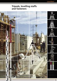 Tripods, levelling staffs and fasteners - Spot-on.net