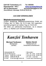 Wir suchen dringend: eine Aerobic-Trainerin - DJK SG Tackenberg eV