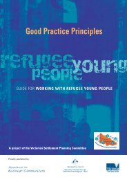 Guide for Working with Refugee Young People - Settlement Council ...
