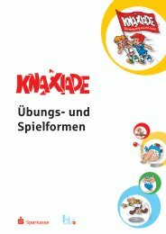 Übungs- und Spielformen - Knaxiade