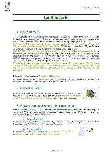 Vaccination contre la rougeole - MedQual