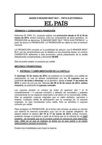 BASES E-READER BEST BUY – TINTA ELECTRÓNICA ... - El País