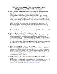 UNDERGRADUATE RESEARCH SCHOLARSHIP (URS ...
