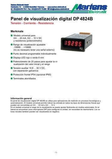 DP4824B-00- Prospekt - Martens Elektronik GmbH