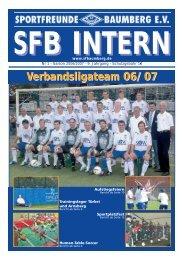Sportfreunde Baumberg SFB-INTERN - SF Baumberg