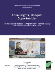 Equal Rights, Unequal Opportunities - the Afghanistan Research ...