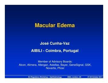 Presentation - Day 1: Macular edema