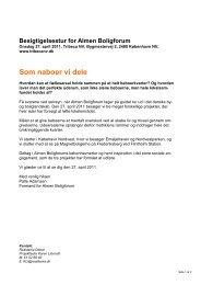 Program besigtigelse 27. april 2011 - Realdania Debat