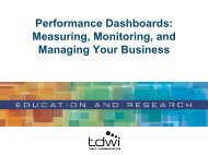 Performance Dashboards: Measuring, Monitoring, and Managing ...