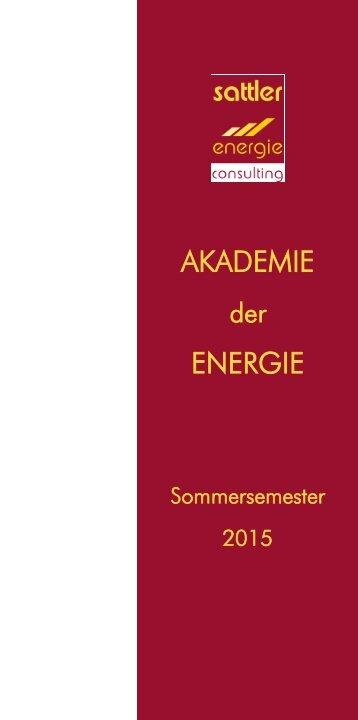 Akademie der Energie - Sommersemester 2015