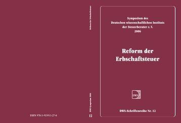 Reform der Erbschaftsteuer - Deutsches Wissenschaftliches Institut ...