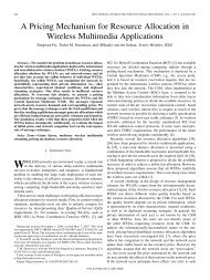 A Pricing Mechanism for Resource Allocation in Wireless Multimedia ...
