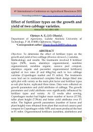 Effect of fertilizer types on the growth and yield of two ... - Elewa.org