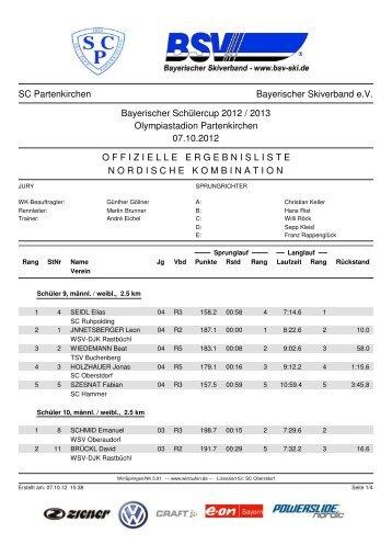 NK - Bayerischer Skiverband