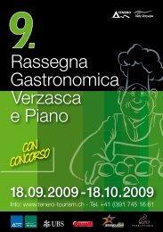 Rassegna Gastronomica Verzasca e Piano - Tenero e valle Verzasca