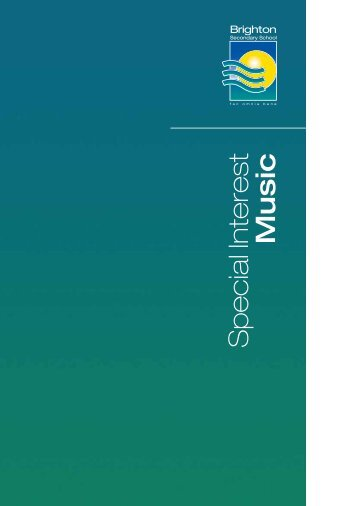Music Brochure - Brighton Secondary School