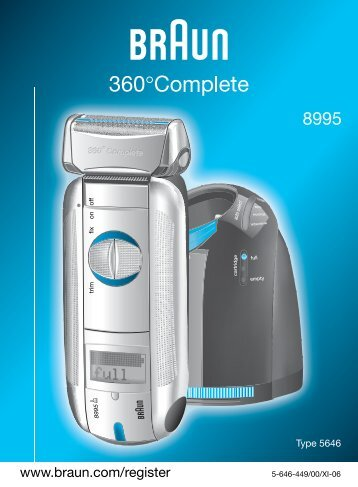 8000 - Braun Consumer Service spare parts use instructions manuals