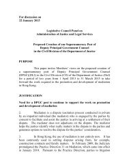 Administration's paper for the Legislative Council Panel on ...