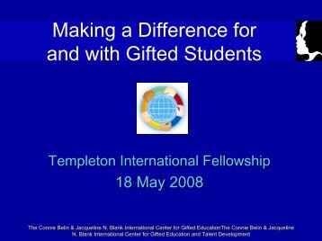 Differentiation - Templetonfellows.org