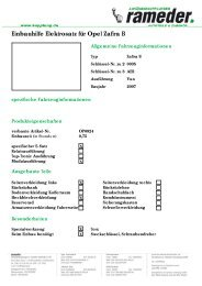 Einbauhilfe Elektrosatz für Opel Zafira B