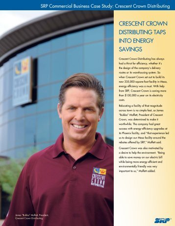 CRESCENT CROWN DISTRIBUTING TAPS INTO ENERGY SAVINGS