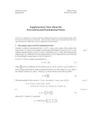 Supplementary Note About the First and Second ... - dirac