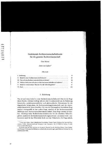 Funktionale Rechtswissenschaftstheorie für die gesamte ...