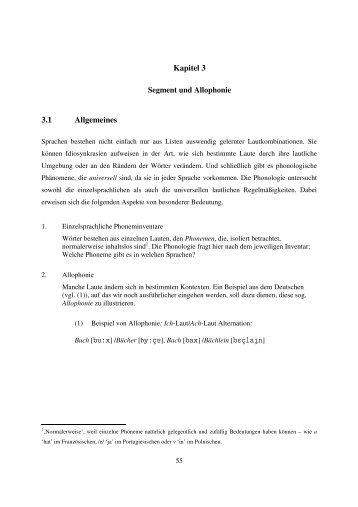 Kapitel 3 3.1 Allgemeines