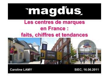 Présentation Magdus - Conseil National des Centres Commerciaux