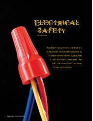 Electrical Safety (September, 2009) - Cleaner Times Magazine