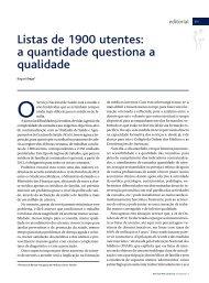 Listas de 1900 utentes - Associação Portuguesa de Medicina Geral ...