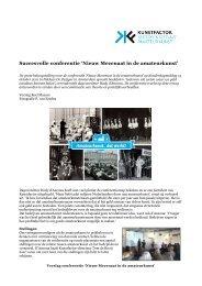 Verslag conferentie 'Nieuw Mecenaat in de amateurkunst' - Kunstfactor