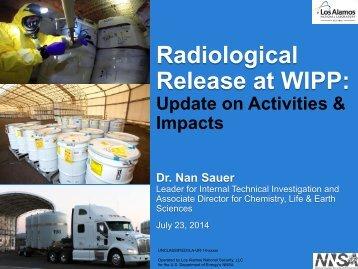RHMC 072314 Item 1 Los Alamos National Laboratory Waste Drum Characterization