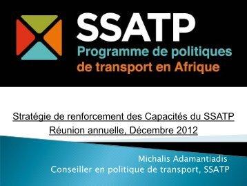 Stratégie de renforcement des Capacités du SSATP ... - World Bank