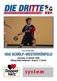 HSG ScHülp-weSterrönfeld - SG Flensburg-Handewitt
