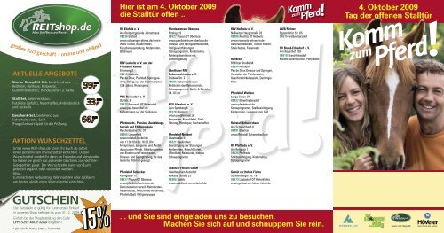 4. Oktober 200 Tag der offenen Stalltür - Landesverband ...