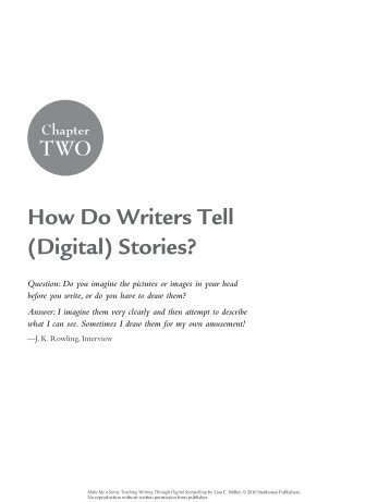 How Do Writers Tell (Digital) Stories? tWo - The Stenhouse Blog ...